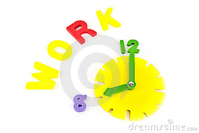 Clock and work wording