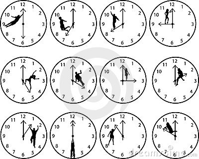 Clocks with people