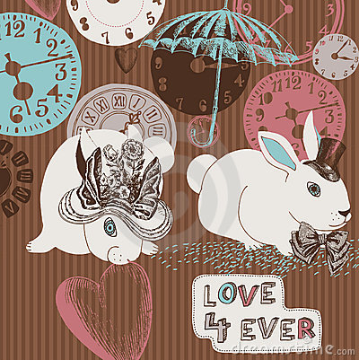 Clocks, rabbits and love