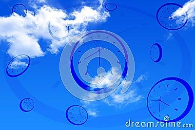 Clocks and sky