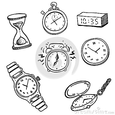 Clocks and watches set