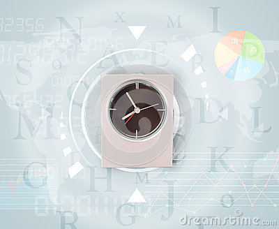 Clocks with world time and finance business concept