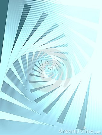 Clockwise Spiral Pattern Blue