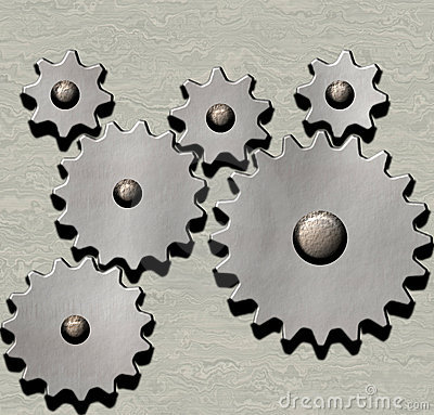 Clockwork cogs and gears