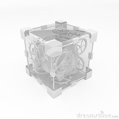 Clockwork Cube, White