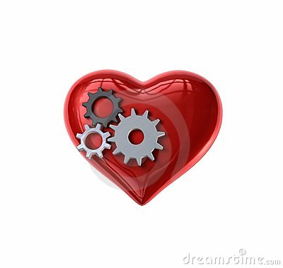 Free Clockwork Gears Heart Royalty Free Stock Images - 12596759