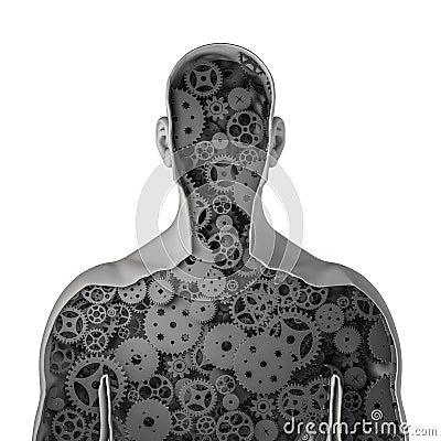 Free Clockwork Human Stock Photo - 38729520