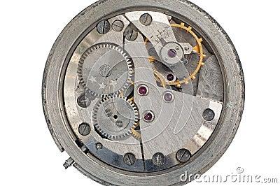 Clockwork from an old Soviet Union watch