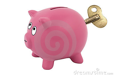 Clockwork piggy bank