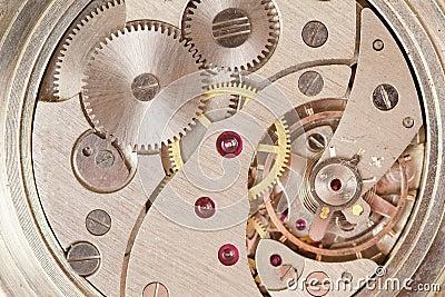 Clockwork of watch