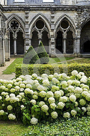 Cloister of abbey in Soissons
