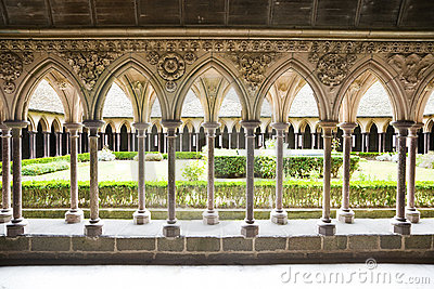 Cloister of Mont St. Michel