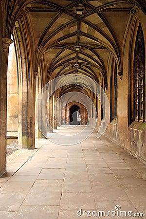 Cloistered walkway