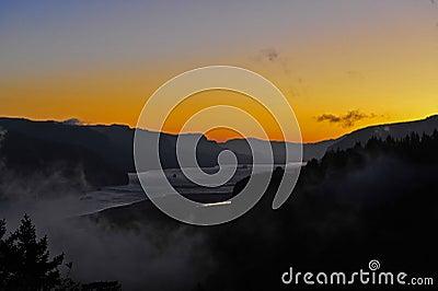 Clolumbia River Gorge Sunrise