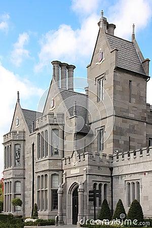 Clontarf Castle. Main entrance. Dublin. Ireland
