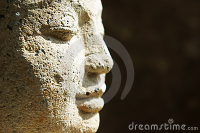 Close of of Buddha face