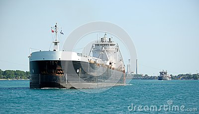 Close Freighter with another in the Background