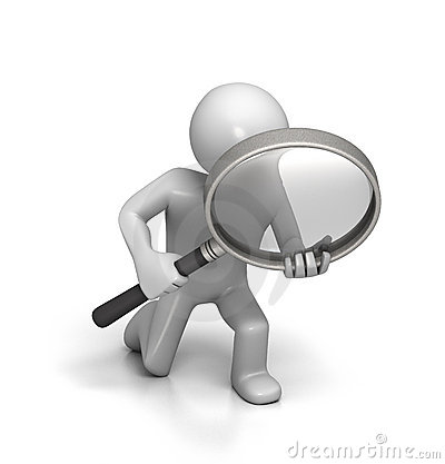 Free Close Inspection With Magnifying Glass Royalty Free Stock Photo - 12707155