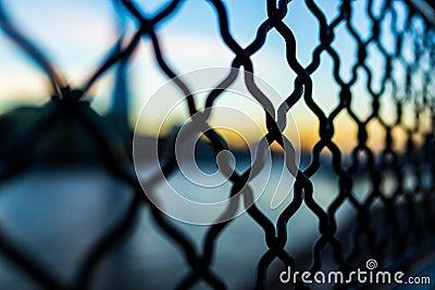 Close Photography And Tilt Lens Of Black Chain Link Fence Free Public Domain Cc0 Image
