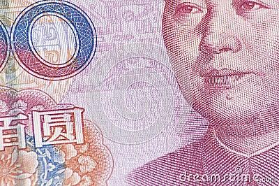 Close Up of 100 RMB banknote