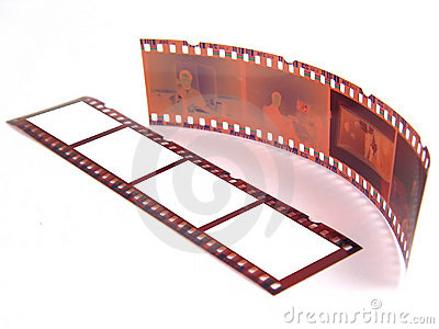 Close-up of 35 mm film-strip