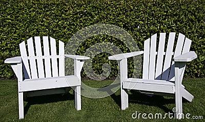 Close up of Adirondack chairs