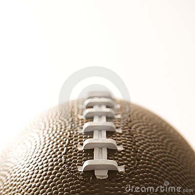 Close-up of American football.