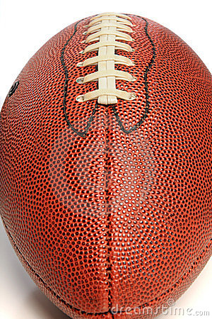 Close up of American Football