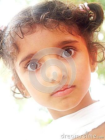 Close up of Asian girl
