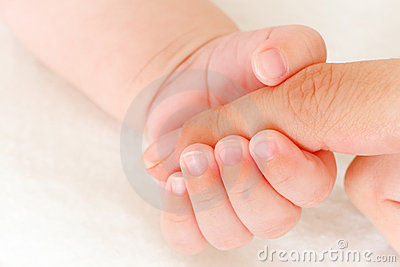 Close-up of baby s hand
