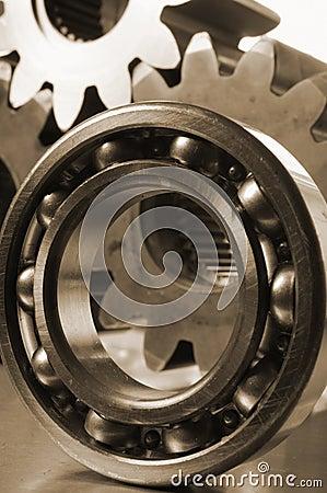 Close-up of ball-bearing