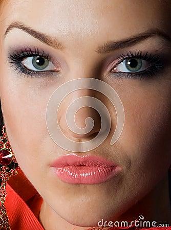 Close-up beautiful face