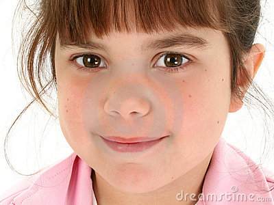Close Up Of Beautiful Five Year Old Girl Royalty Free
