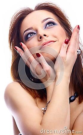Close-up of beautiful model