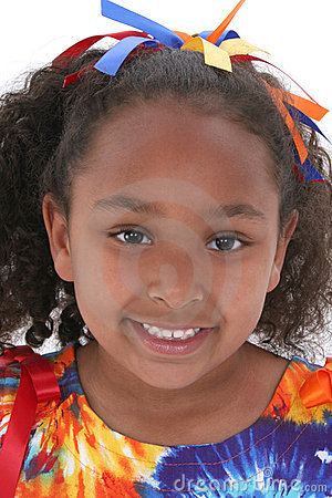 Free Close Up Beautiful Six Year Old Girl Royalty Free Stock Image - 124396