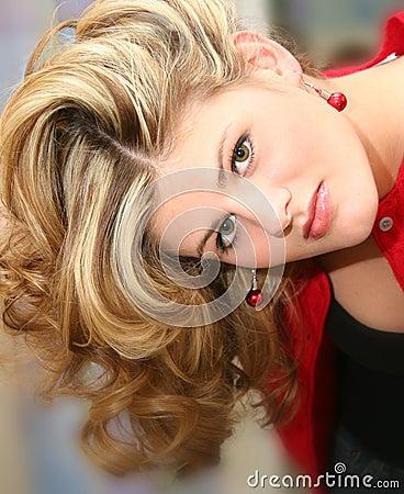 Close Up Beautiful Young Woman
