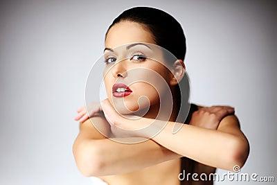 Close-up of beautiful young woman posing.