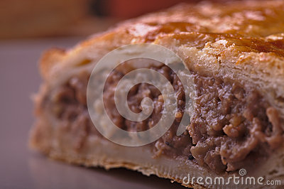 Meat Pasty Close up
