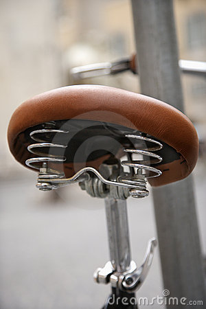 Close-up of bike seat in.