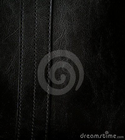 Close-up of black leather texture as background