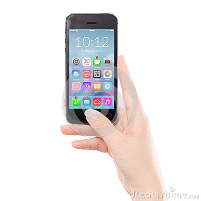 Free Close Up Black Mobile Smart Phone With Colorful Application Icon Stock Photo - 42256510