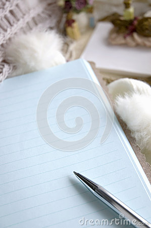 Close up blank page
