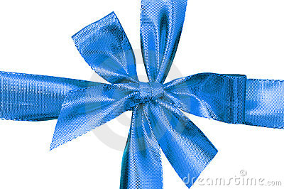 Close up of blue gift box