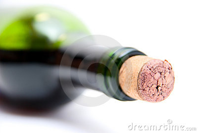 Close-up of bottle of red  wine