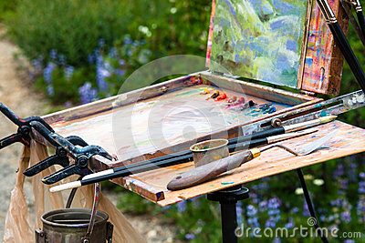 Painters Palette and Easel
