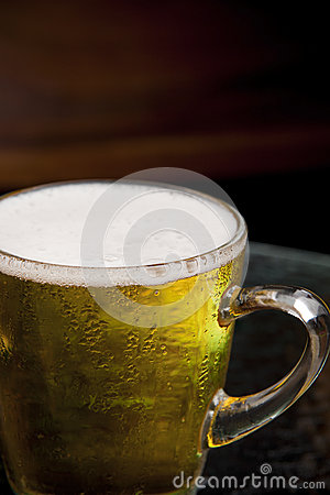 Free Close Up Bubble Lager Beer In Mug Stock Photo - 30133540