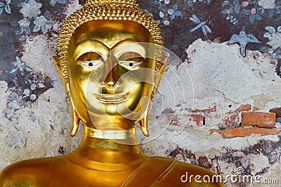 Close up buddha face