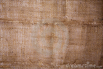 Close-up of Burlap Hessian