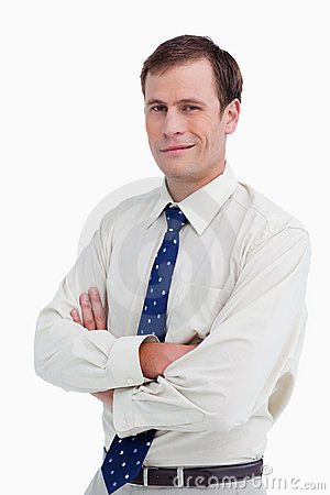Close up of businessman with his arms crossed