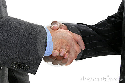Close Up Businessmen Shaking Hands Stock Photo - Image: 253730